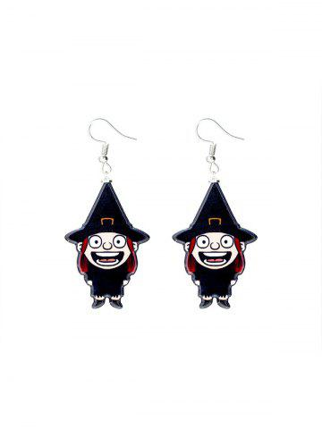 Halloween Witch Cartoon Drop Earrings