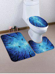 Halloween Night 3 Pcs Bathroom Toilet Mat -