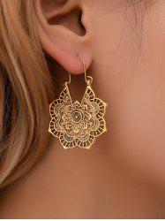 Vintage Alloy Engraved Floral Earrings -