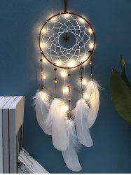 Handmade LED Light Christmas Snowflake and Feather Dream Catcher -