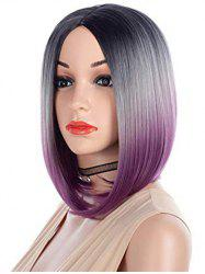 Center Part Straight Halloween Ombre Synthetic Short Bob Wig -