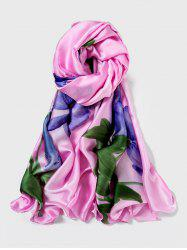 Flower Design Print Long Scarf -