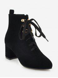 Pointed Toe Suede Ankle Boots -