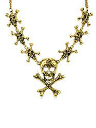 Halloween Skull Hollow Out Statement Necklace -