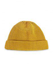 Round Top Knitted Weaving Winter Soft Hat -