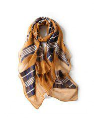 Beach Plaid Print Long Scarf -