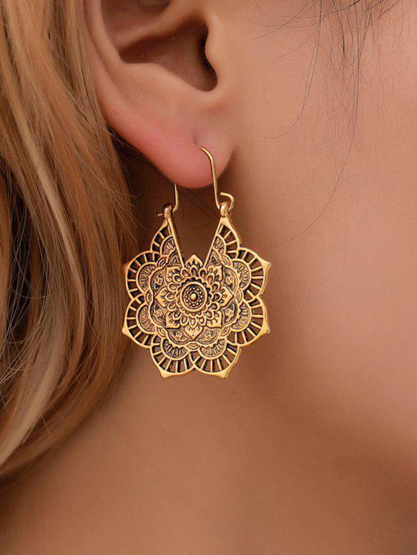 Outfit Vintage Alloy Engraved Floral Earrings