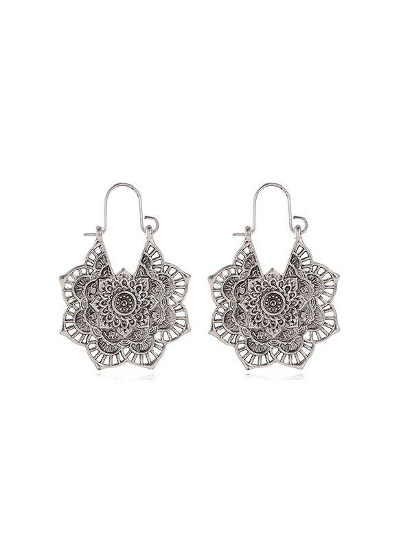 Chic Vintage Alloy Engraved Floral Earrings
