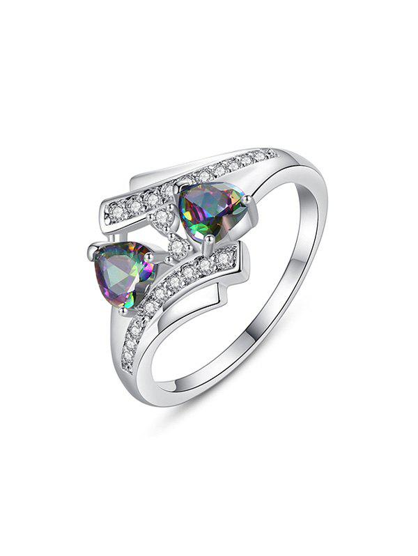 Best Double Hearts Design Zircon Ring