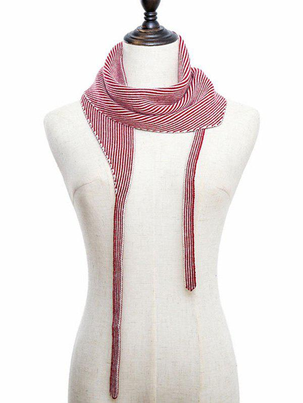 Cheap Striped Double Face Knitted Triangle Scarf