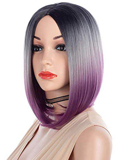 Sale Center Part Straight Halloween Ombre Synthetic Short Bob Wig