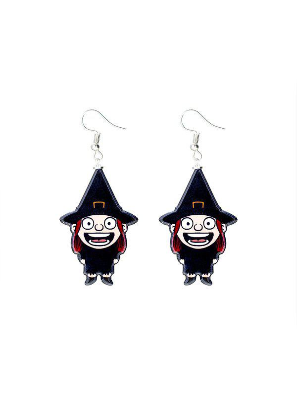 Fancy Halloween Witch Cartoon Drop Earrings