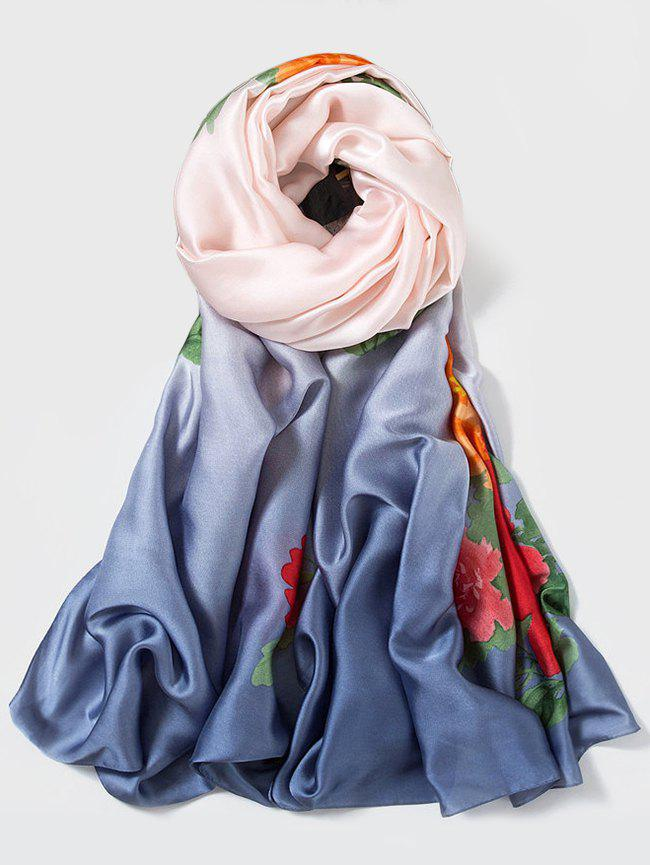 Cheap Flower Design Print Long Scarf
