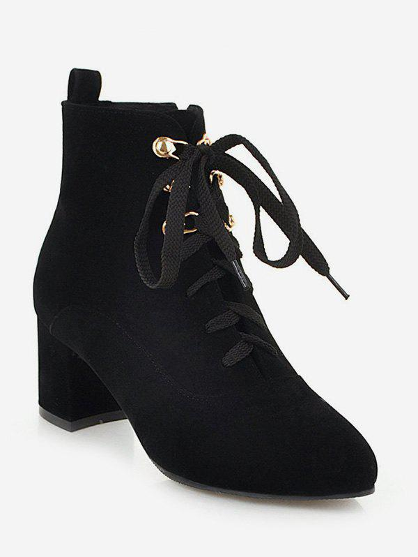 Store Pointed Toe Suede Ankle Boots