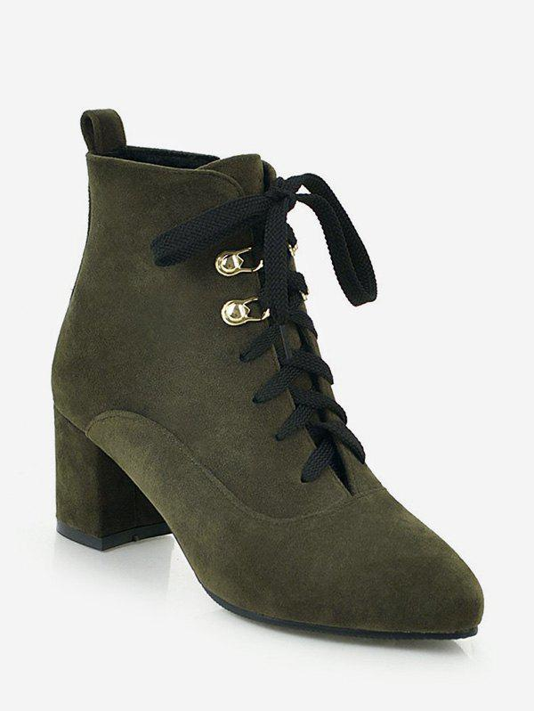 Cheap Pointed Toe Suede Ankle Boots