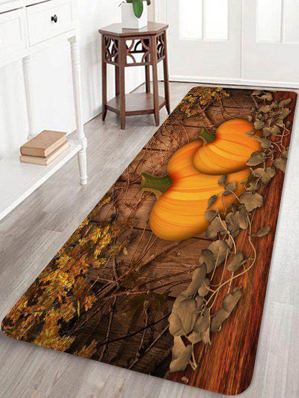 Trendy Halloween Cartoon Pumpkin Printed Floor Rug