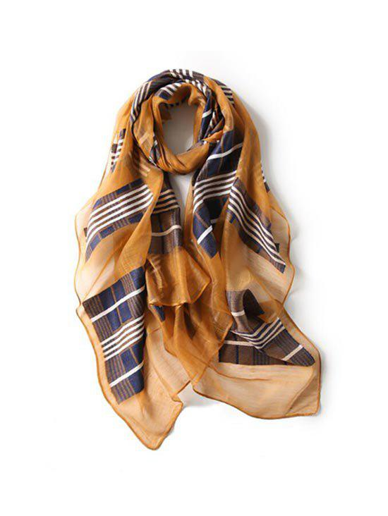 Sale Beach Plaid Print Long Scarf