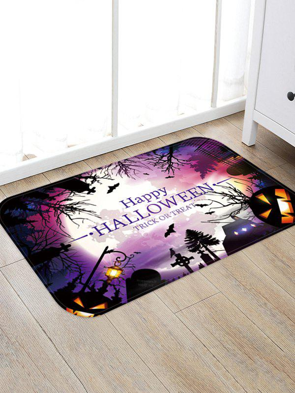 New Halloween Pumpkin Bat Printed Floor Rug