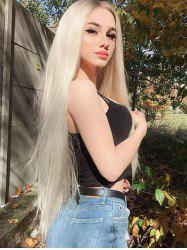 Center Part Halloween Long Synthetic Straight Wig -