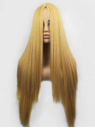 Center Part Straight Synthetic Long Wig -