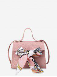Ribbon Bowknot Decorate Crossbody Leather Shoulder Bag -