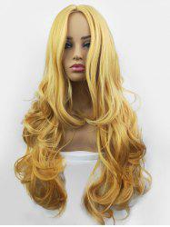 Center Part Long Synthetic Body Wave Wig -