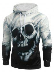 Halloween Skull Graphic Kangaroo Pocket Hoodie -