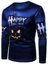 Happy Halloween Pumpkin Print Tee Shirt -