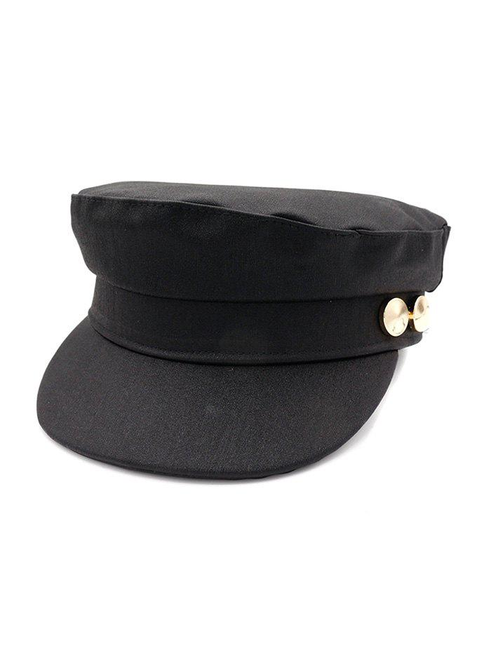 Fancy Solid Color Casual Military Hat