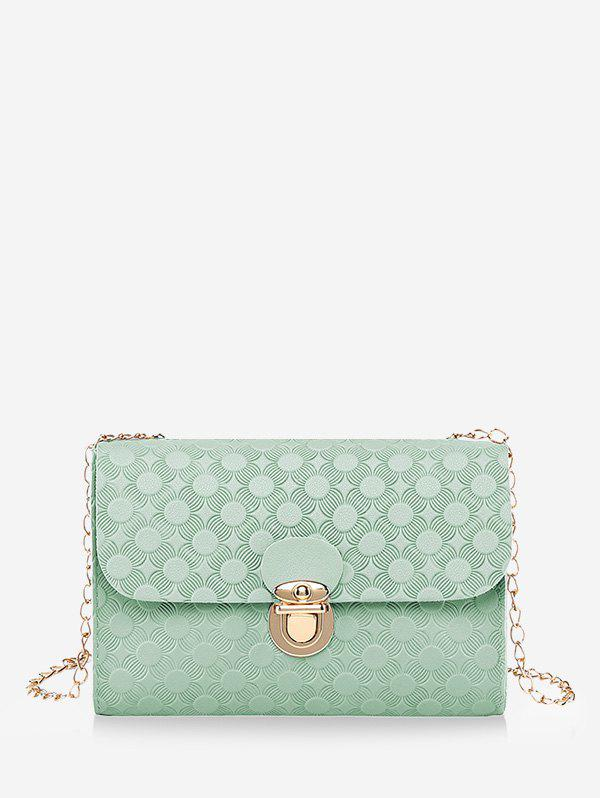 Hot Hasp Embossed Cover Chain Shoulder Bag