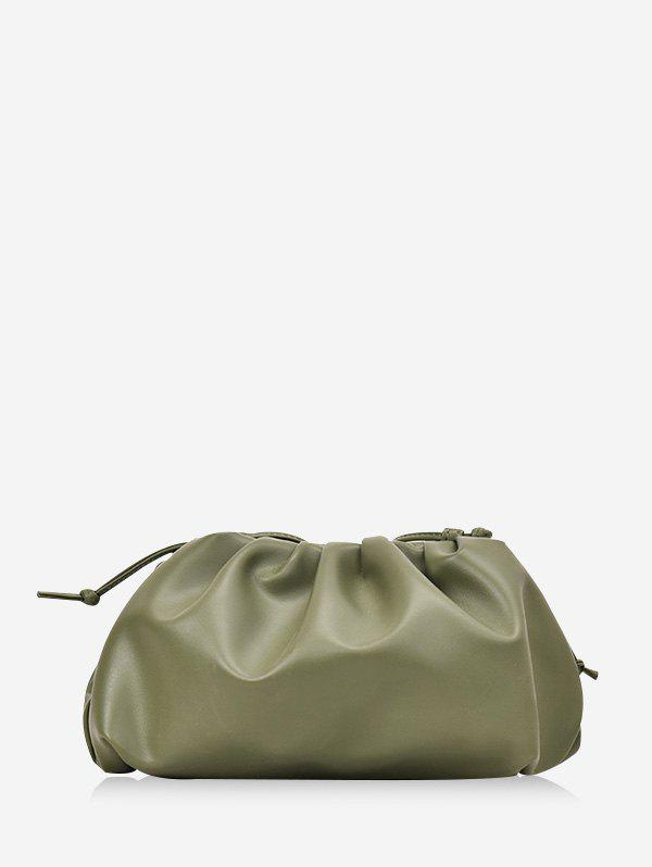 New Solid Color Drape Design Crossbody Bag