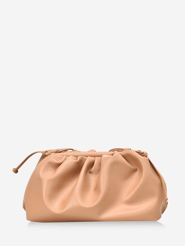 Shop Solid Color Drape Design Crossbody Bag