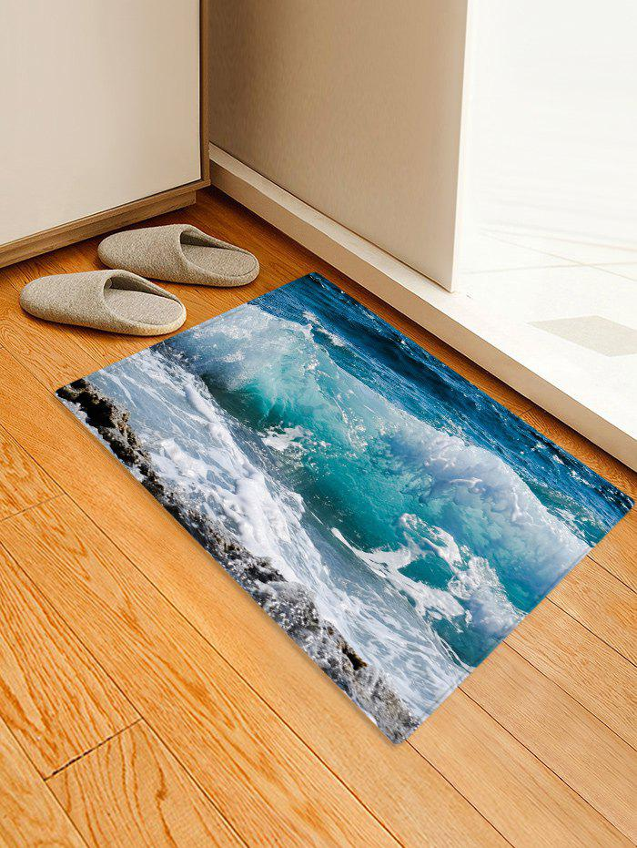 Online Sea Wave Rock 3D Printed Floor Rug
