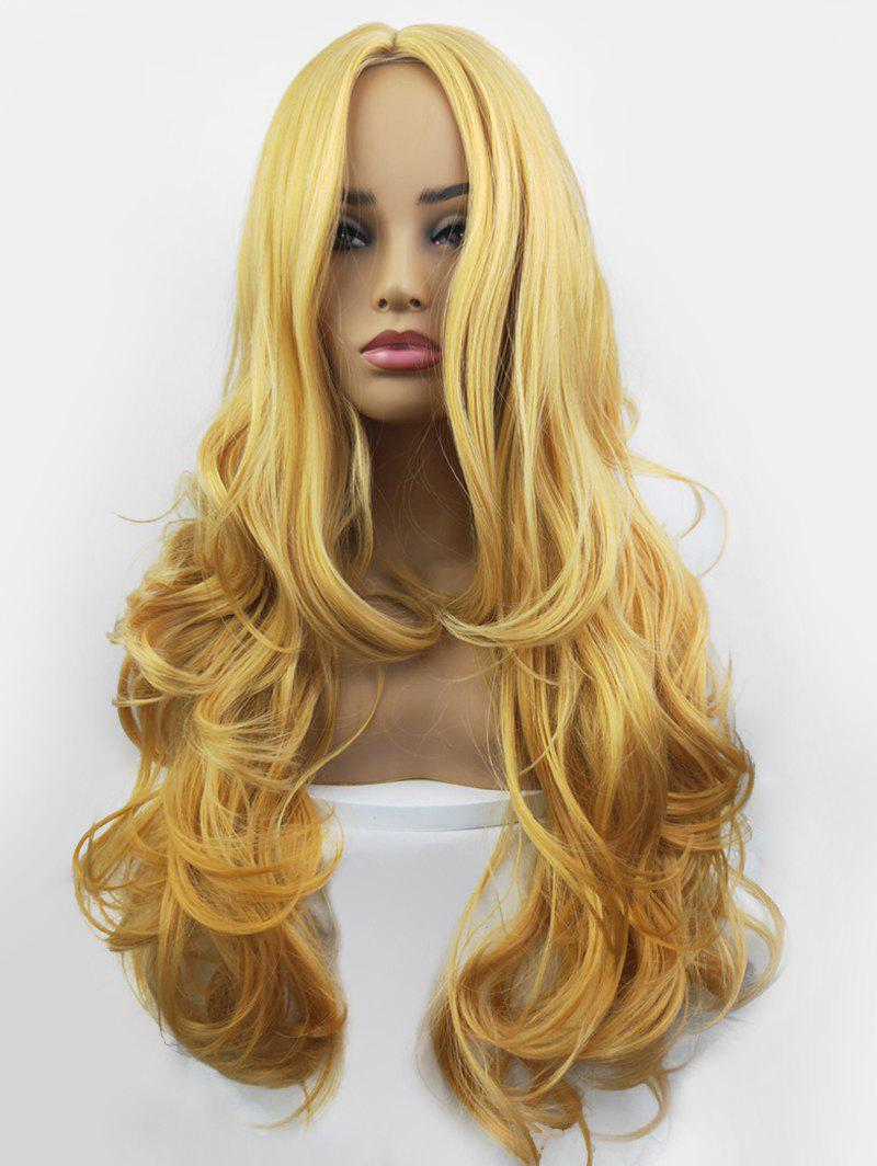 Affordable Center Part Long Synthetic Body Wave Wig
