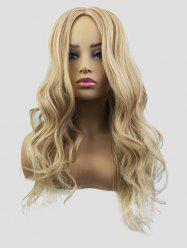 Synthetic Long Center Parting Capless Wavy Wig -