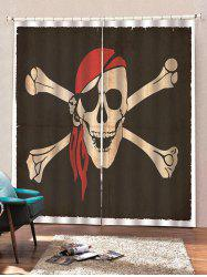 Skull Crossbone Pattern Window Curtains -