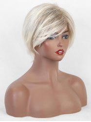 Side Part Straight Ombre Fluffy Short Synthetic Wig -
