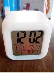 Colorful Multi-function Bedside LED Electronic Alarm Clock -