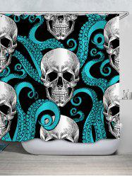 Skull Printed Waterproof Shower Curtain -