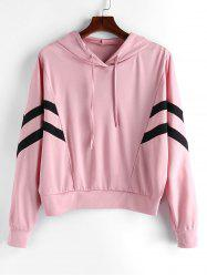 Plus Size Two Tone Drawstring Pullover Gym Hoodie -