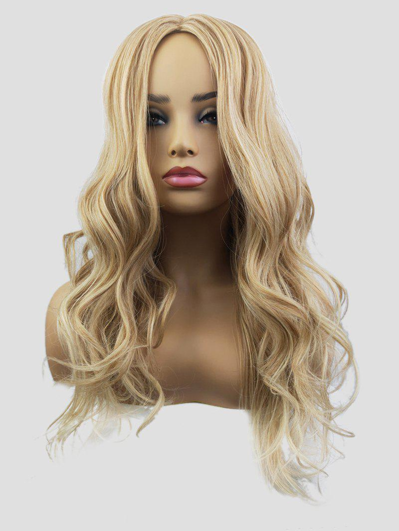 Shops Synthetic Long Center Parting Capless Wavy Wig