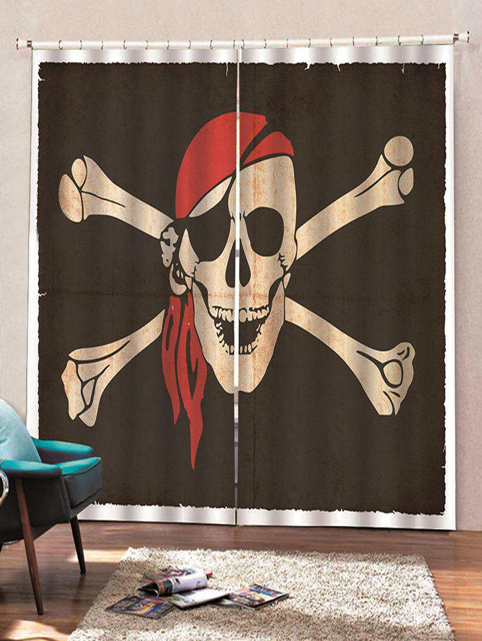 Hot Skull Crossbone Pattern Window Curtains