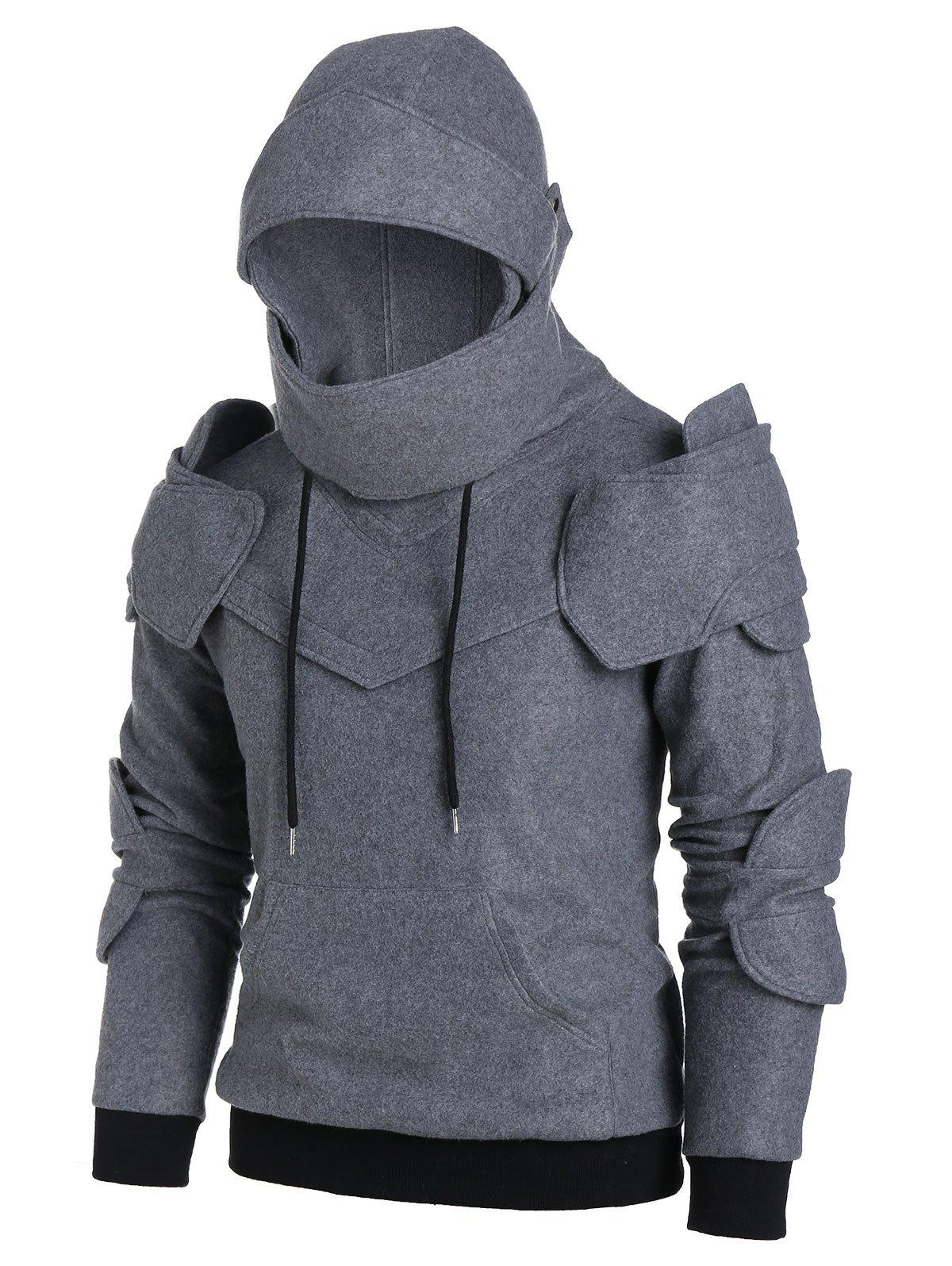 Latest Drawstring Front Pocket Knight Soldier Hoodie