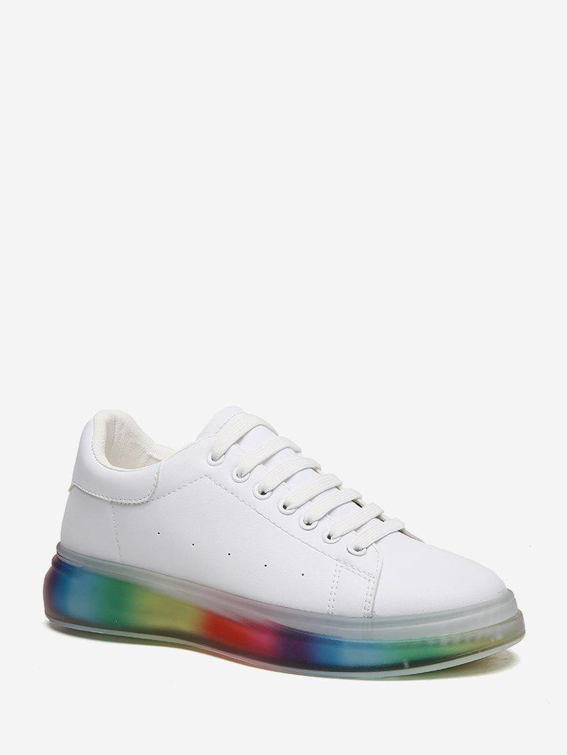 Chic Colorful Gradient Sole Low Top Skate Shoes