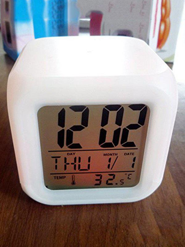 Unique Colorful Multi-function Bedside LED Electronic Alarm Clock