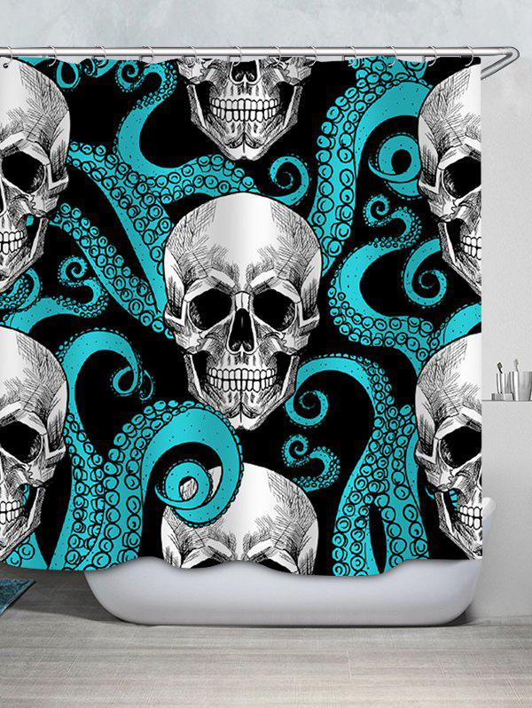 Outfits Skull Printed Waterproof Shower Curtain