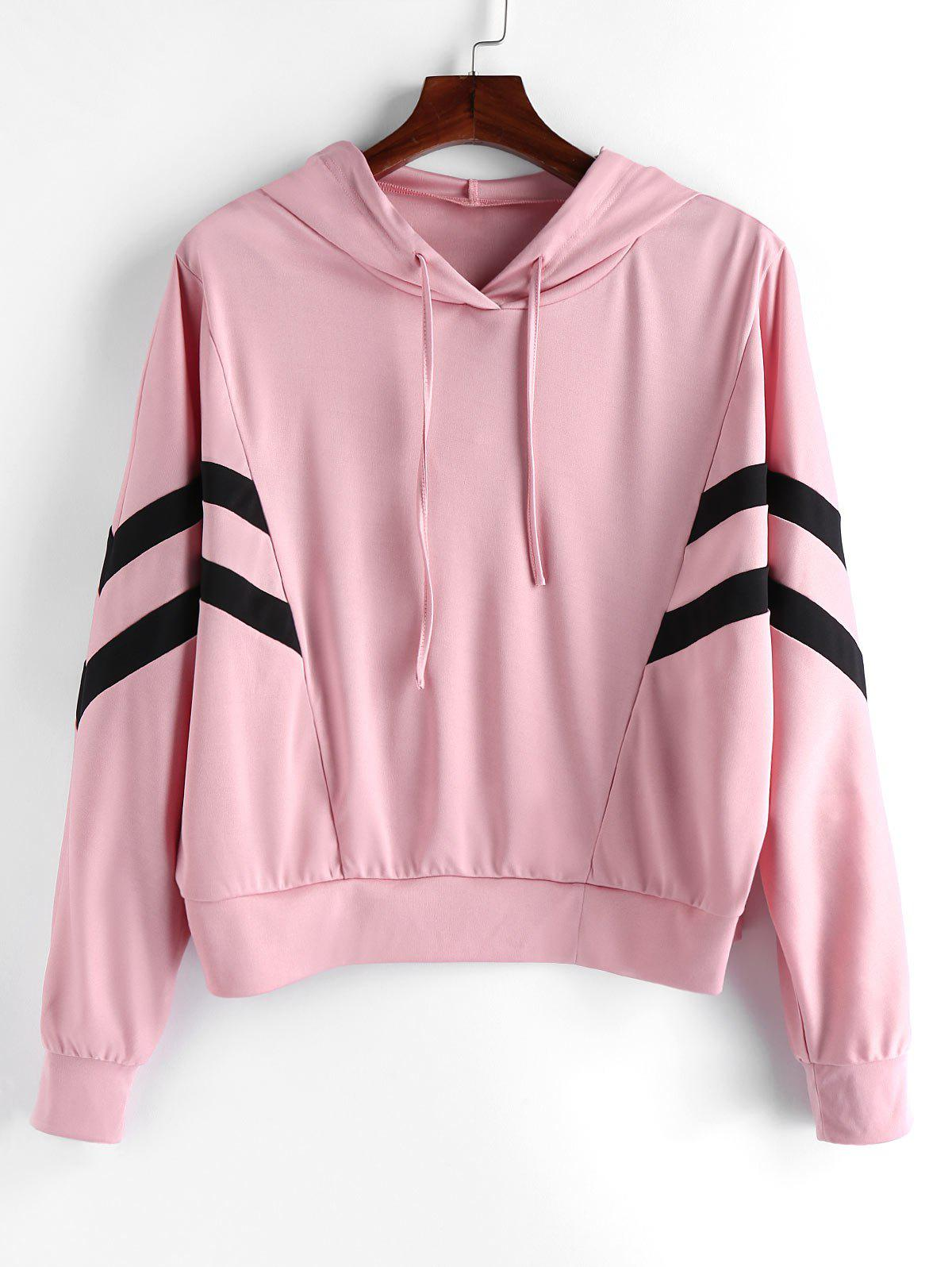 Outfit Plus Size Two Tone Drawstring Pullover Gym Hoodie