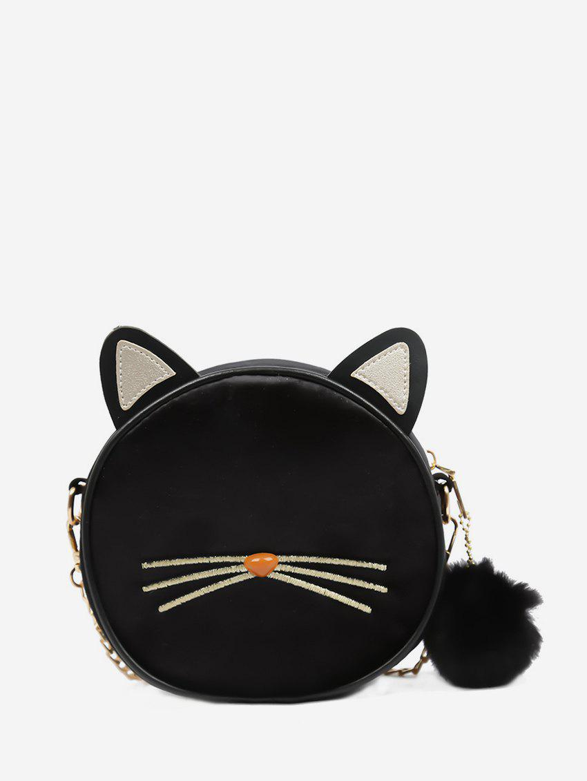 Shop Cat Face Pattern Round Shoulder Bag