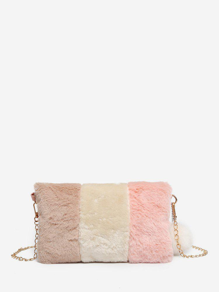 Store Casual Crossbody Fuzzy Square Chain Shoulder Bag