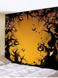 Gothic Pumpkin Tree Print Art Decoration Wall Tapestry -